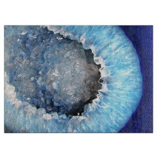Falln Blue Crystal Geode Cutting Board