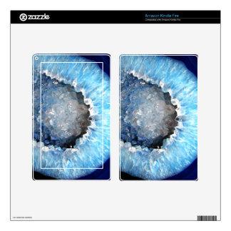 Falln Blue Crystal Geode Skins For Kindle Fire