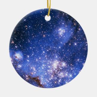 Falln Blue Embrionic Starfield Ceramic Ornament
