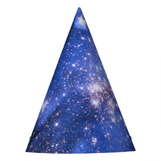 Falln Blue Embrionic Starfield Party Hat