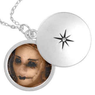 Falln Broken Pierrot Locket Necklace
