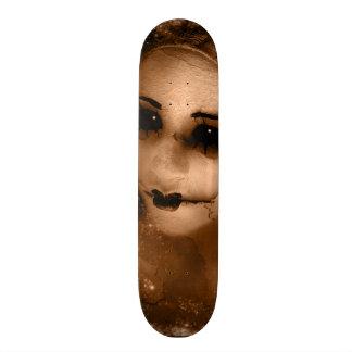 Falln Broken Pierrot Original Art Skateboard