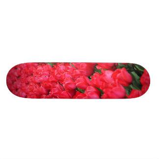 Falln Carpet of Crimson Tulips Skateboard Deck