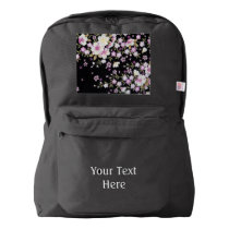 Falln Cascading Pink Flowers American Apparel™ Backpack