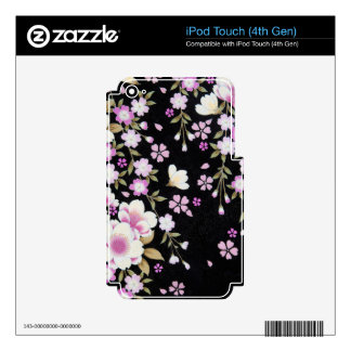 Falln Cascading Pink Flowers iPod Touch 4G Skin