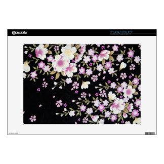 Falln Cascading Pink Flowers Laptop Decals