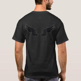 Falln Castiel Angel Black Front and Back T-Shirt