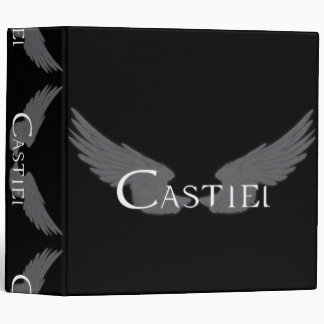 Falln Castiel With Wings White Binder