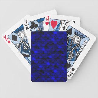 Falln Dark Blue Mermaid Scales Bicycle Playing Cards