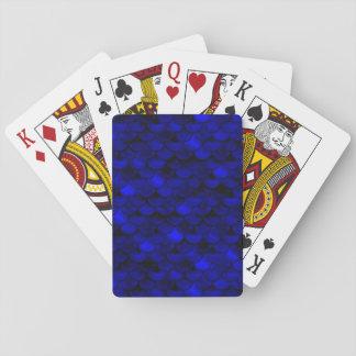 Falln Dark Blue Mermaid Scales Playing Cards
