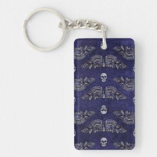Falln Deathshead Moth and Skulls Keychain