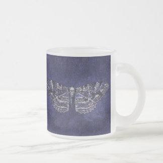 Falln Deathshead Moth Frosted Glass Coffee Mug