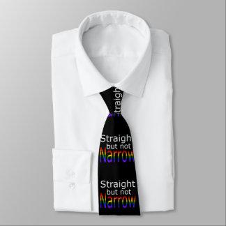 Falln derecho pero no el estrecho (texto blanco) corbata fina