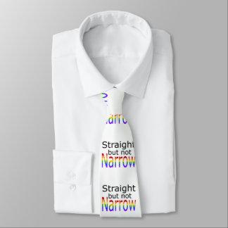 Falln derecho pero no el estrecho (texto negro) corbata fina