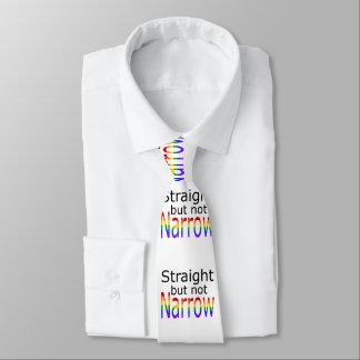 Falln derecho pero no el estrecho (texto negro) corbatas personalizadas