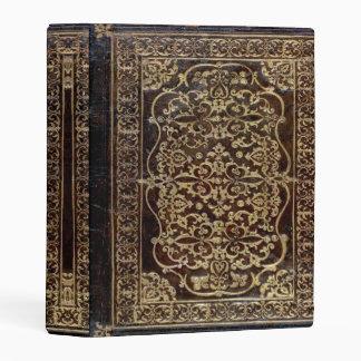 Falln doró el libro de cuero del tomo mini carpeta