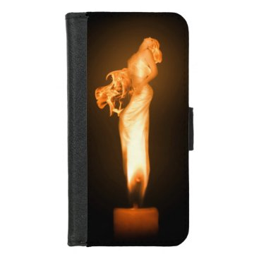 Halloween Themed Falln Fire iPhone 8/7 Wallet Case