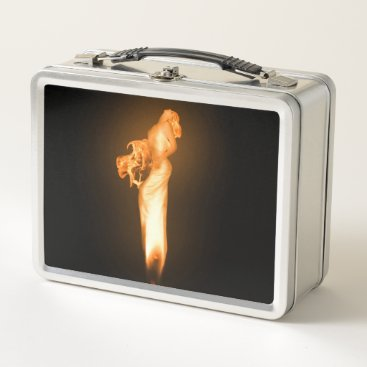 Halloween Themed Falln Fire Metal Lunch Box