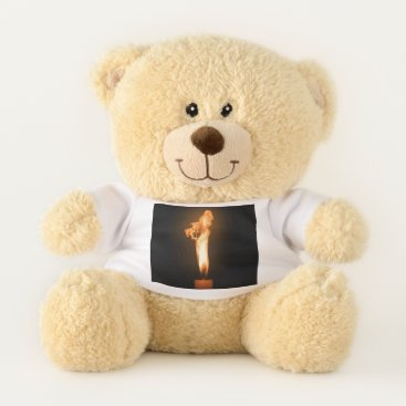 Halloween Themed Falln Fire Teddy Bear