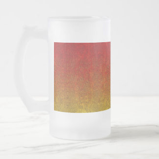 Falln Flame Glitter Gradient Frosted Glass Beer Mug