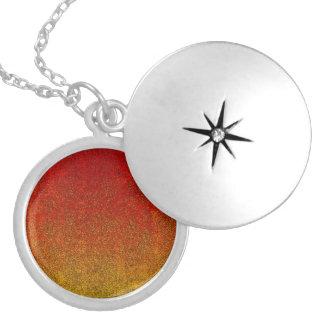 Falln Flame Glitter Gradient Locket Necklace