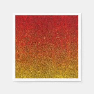 Falln Flame Glitter Gradient Paper Napkin