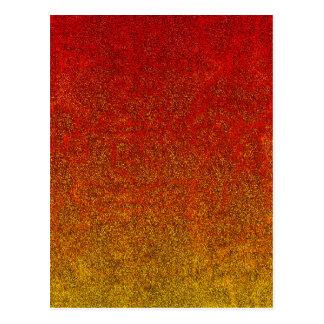 Falln Flame Glitter Gradient Postcard