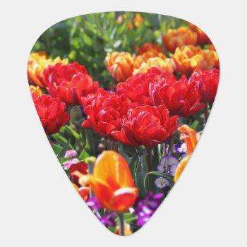 Falln Floral Crimson Waves Guitar Pick by FallnAngelCreations at Zazzle