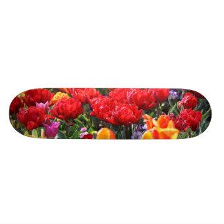 Falln Floral Crimson Waves Skateboard