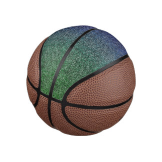 Falln Forest Nightfall Glitter Gradient Basketball