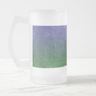 Falln Forest Nightfall Glitter Gradient Frosted Glass Beer Mug
