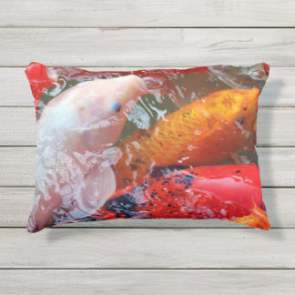 Falln Gathering Koi Outdoor Pillow