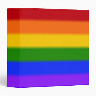 Falln Gay Pride Flag 3 Ring Binder
