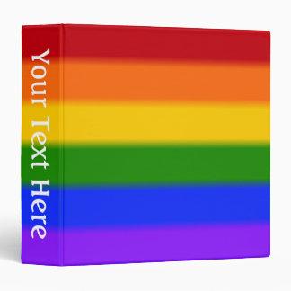 Falln Gay Pride Flag Binder