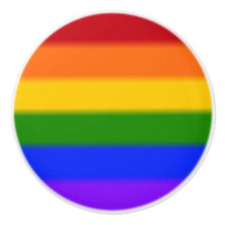 Falln Gay Pride Flag Ceramic Knob