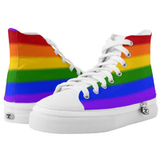 Falln Gay Pride Flag High-Top Sneakers