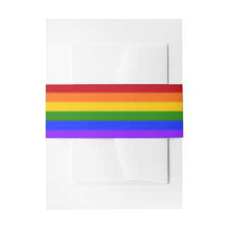 Falln Gay Pride Flag Invitation Belly Band