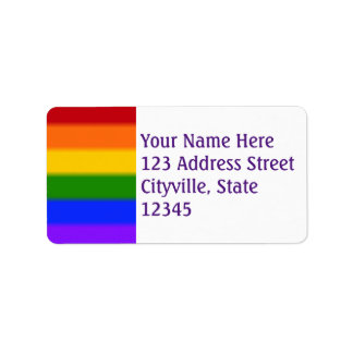 Falln Gay Pride Flag Label