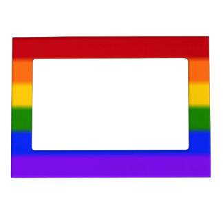 Falln Gay Pride Flag Magnetic Photo Frame
