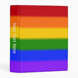 Falln Gay Pride Flag Mini Binder