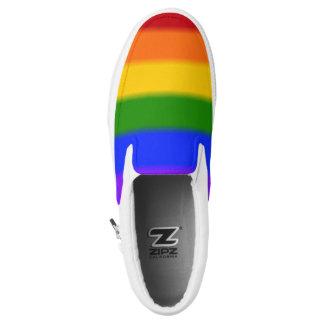 Falln Gay Pride Flag Printed Shoes