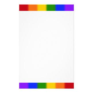Falln Gay Pride Flag Stationery