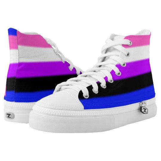 56fefaa2e188 Falln Genderfluid Pride Flag High-Top Sneakers