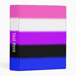 Falln Genderfluid Pride Flag Mini Binder