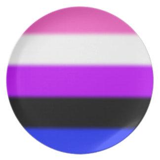 Falln Genderfluid Pride Flag Plate