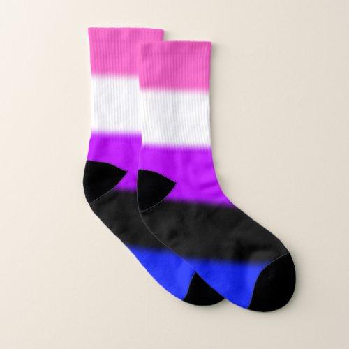 Falln Genderfluid Pride Flag Socks