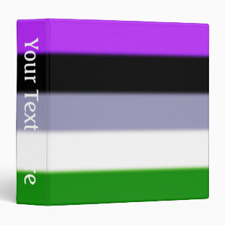 Falln Genderqueer Pride Flag 3 Ring Binder