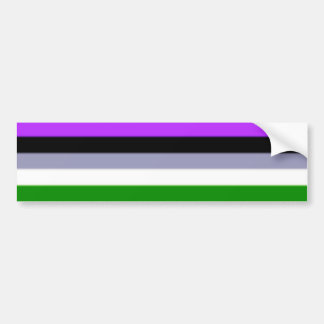 Falln Genderqueer Pride Flag Bumper Sticker