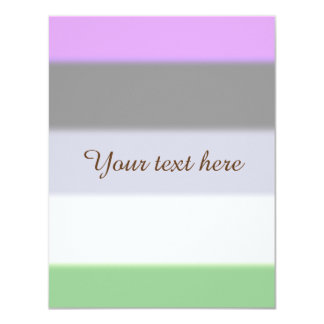 Falln Genderqueer Pride Flag Card