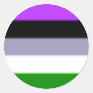 Falln Genderqueer Pride Flag Classic Round Sticker